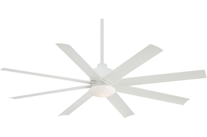 "Slipstream - 65"" Ceiling Fan - Flat White Motor Finish with Flat White Blades"