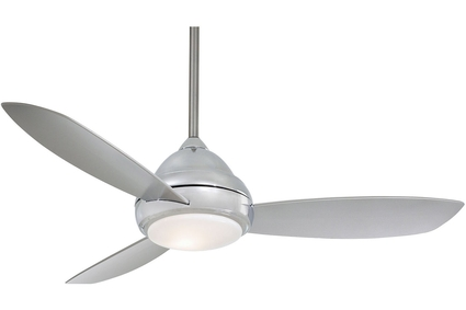"Concept I - 52"" Ceiling Fan - Polished Nickel Motor Finish with Silver Blades"