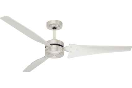 "Loft - 60"" Ceiling Fan - Brushed Steel with Brushed Steel Blades"