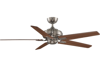 "Keistone DC Fan - 72"" Ceiling Fan - Pewter Finish with Reversible Cherry / Walnut Blades"