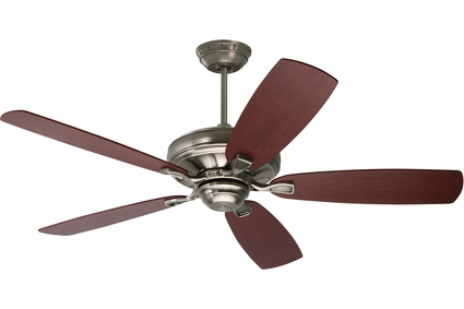 "Carrera Grande Eco - 54"" Ceiling Fan - Antique Pewter finish with Walnut Blades"