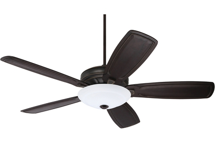 "Carrera Grande Eco - 54"" Ceiling Fan - Golden Espresso finish with Hand Carved Classic Vintage Black Blades and LED Light Kit"