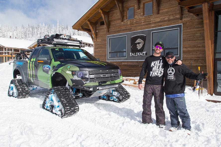 Ken blocks ford raptortrax goes on video mission for its ken blocks ford raptortrax aka the worlds fastest snow cat made its backcountry debut last week with a trip to the baldface lodge in nelson bc canada fandeluxe Choice Image