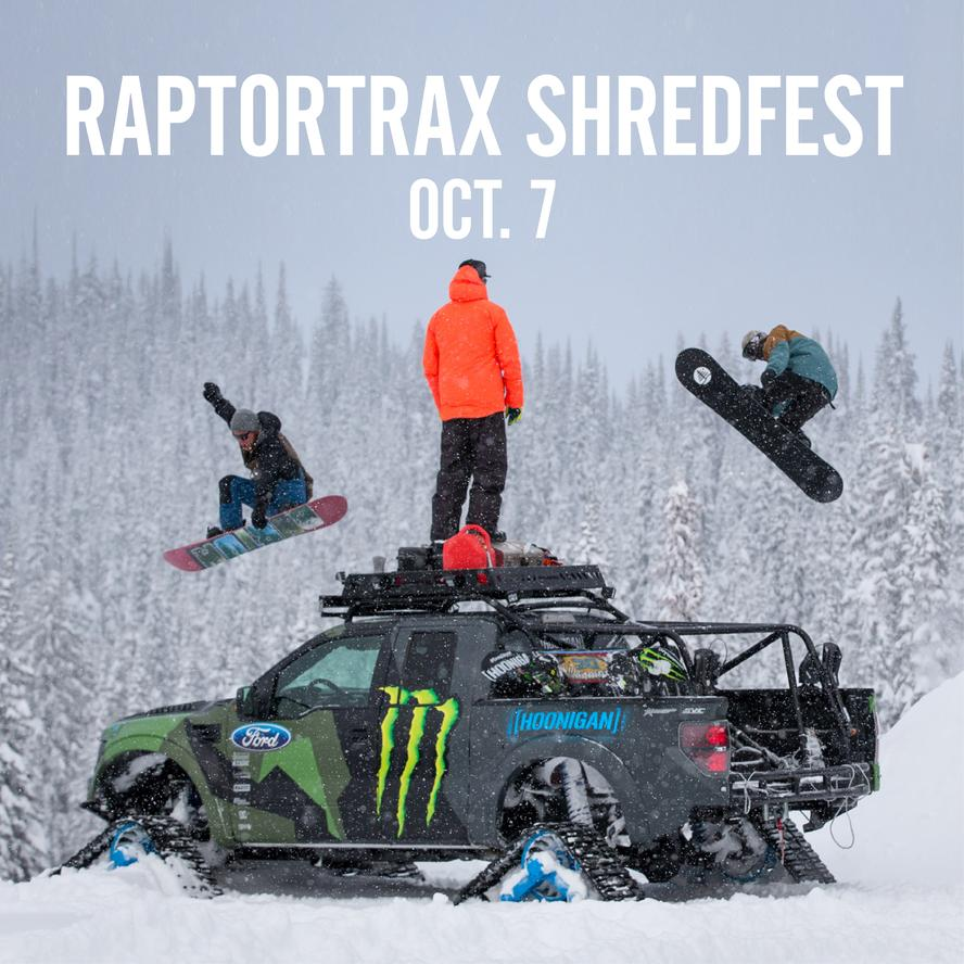 RaptorTRAX Shredfest Oct. 7