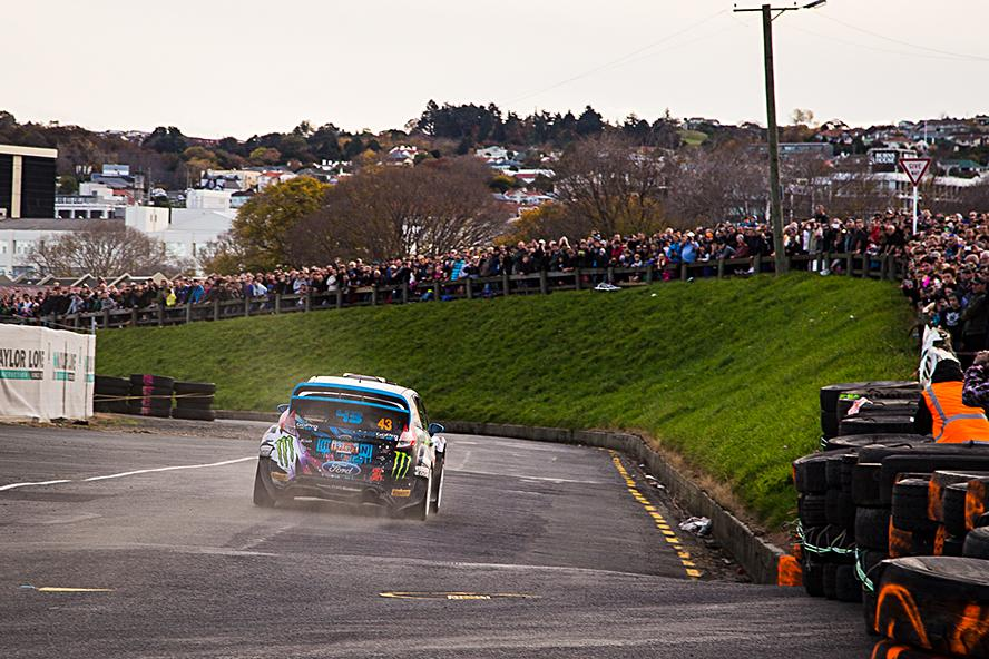 KEN BLOCK AND ALEX GELSOMINO AT RALLY OTAGO NEW ZEALAND 2015