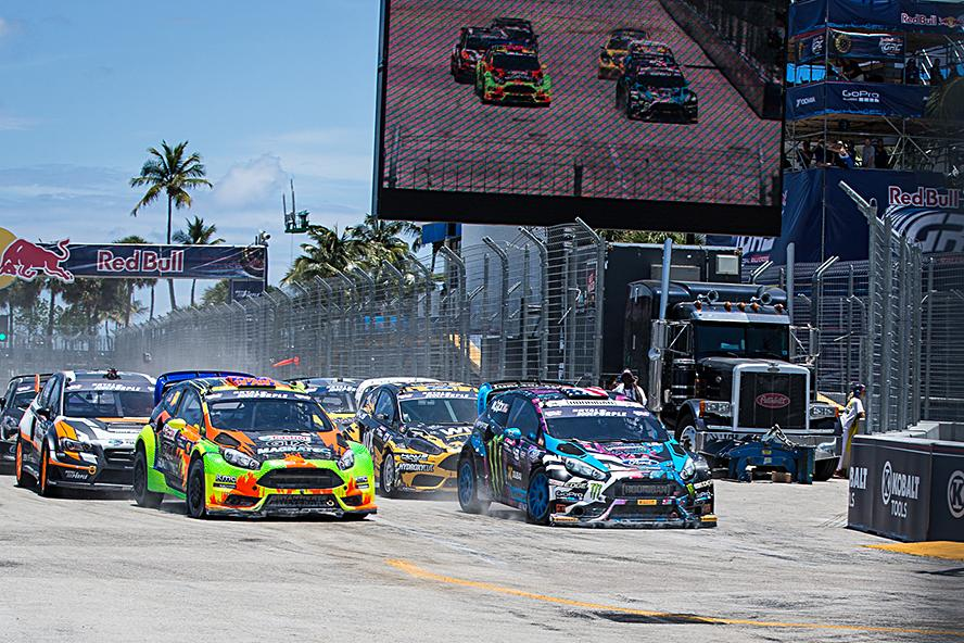 KEN BLOCK WINS ROUND 1 OF THE 2015 GLOBAL RALLYCROSS CHAMPIONSHIP IN FT. LAUDERDALE, NOW LEADING THE SERIES IN POINTS