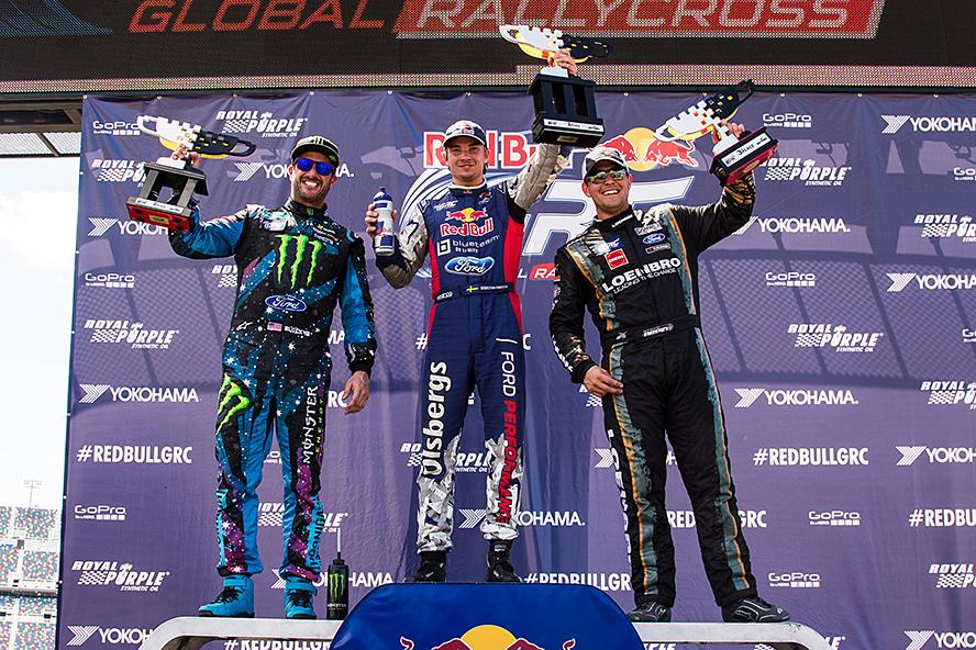 Ken Block takes second place at GRC Round 3 in Daytona, FL.