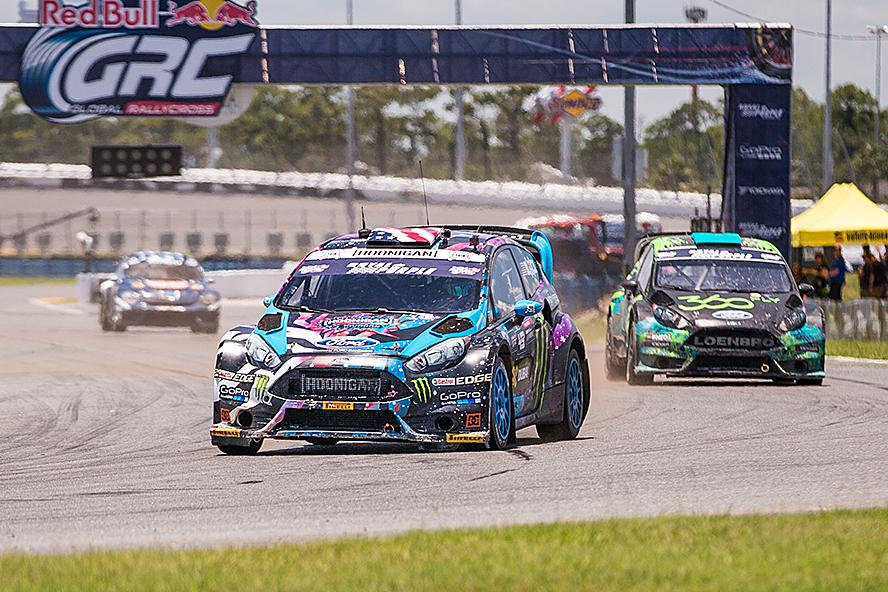Ken Block leads the pack in Daytona, Florida