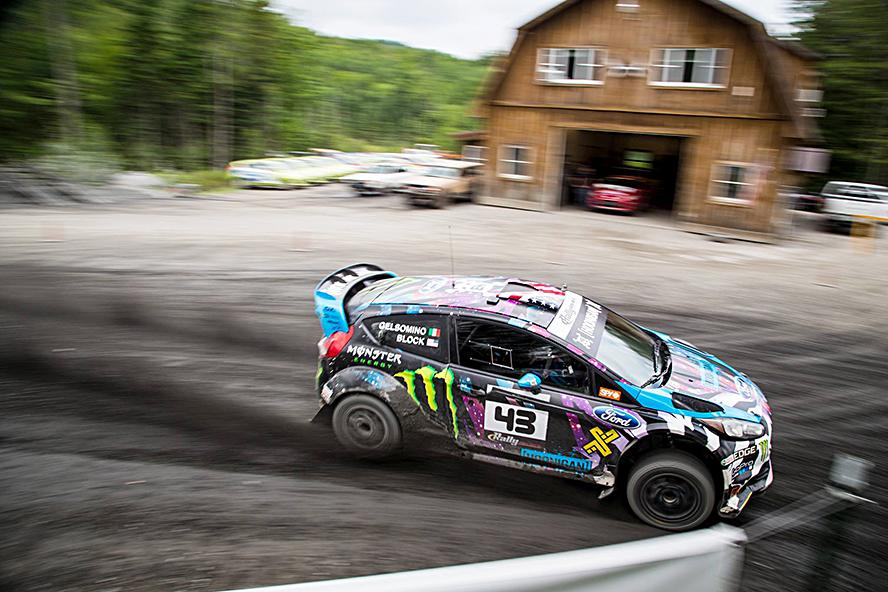 Ken Block puts the HFHV through its paces with Alex Gelsomino at Team O'Neil Rally School prior to NEFR 2015