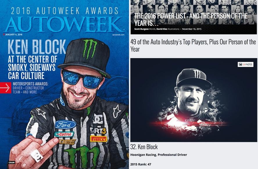 Ken Block receives awards from Autoweek and Motor Trend