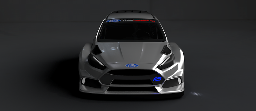 Ken Block and Andreas Bakkerud - Ford Focus RS RX front view