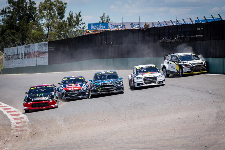 Hoonigan Racing Division's Andreas Bakkerud finished the final round of the 2016 World Rallycross Championship with three trophies on the podium: a 1st place for winning the race, a Monster Energy Supercharge Award for being first to the first corner in the final and a 3rd place in the overall 2016 championship!