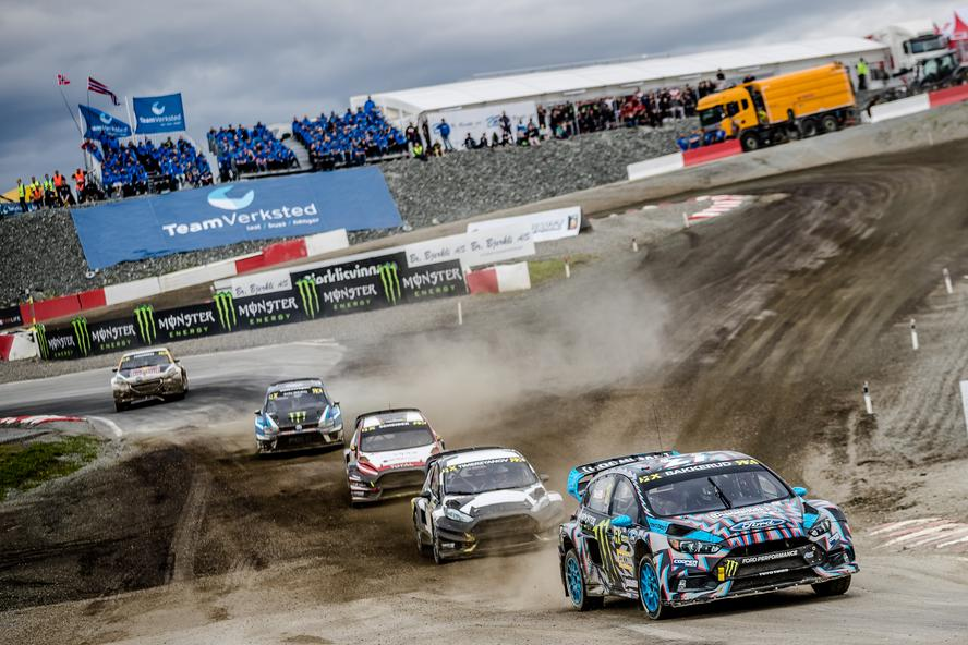 Hoonigan Racing Division's Ken Block and Andreas Bakkerud return to Hell, Norway, for Round 6 of the 2017 World Rallycross Championship. Hell is where Block made his World RX debut in 2014 (an event which he took 3rd overall) and is Andreas' home event (which he won last season with a full sweep).