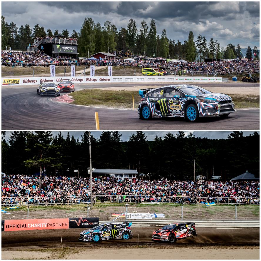 Hoonigan Racing Division's Andreas Bakkerud took 2nd overall this past weekend at World RX Sweden, making it his third event in a row with a podium (having finished 2nd in Norway and 3rd in the UK), bringing his total podium finish tally to four for the season. The 2nd overall this weekend also marked the fifth year in a row that Bakkeurd has made the podium during the Sweden round, an impressive statistic given the depth of talent in the racing field.