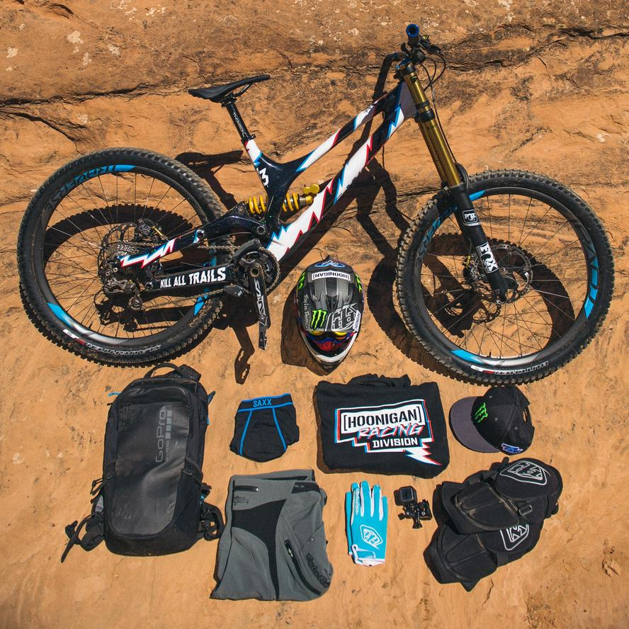 Recently, Ken Block and his family embarked on a weekend camping trip to Utah's well-known Moab area. Loading up all of his toys (three Can-Am Maverick units, two tricked out with custom handbrakes and a handful of Specialized mountain bikes), he and his family climbed into an Earth Roamer (check them out here: www.earthroamer.com) that he had on loan and headed down.