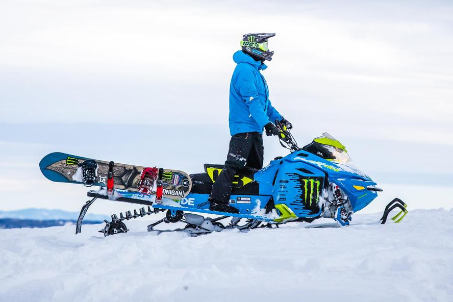 This winter, Ken Block and a group of friends (Olympic gold medal snowboarder Sage Kotsenburg, Snowboarder of The Year Bode Merrill, Ski-Doo ambassador Carl Kuster and Ski-Doo ambassador Ashley Chaffin) descended upon Powder Mountain in Utah for a few days of backcountry fun.