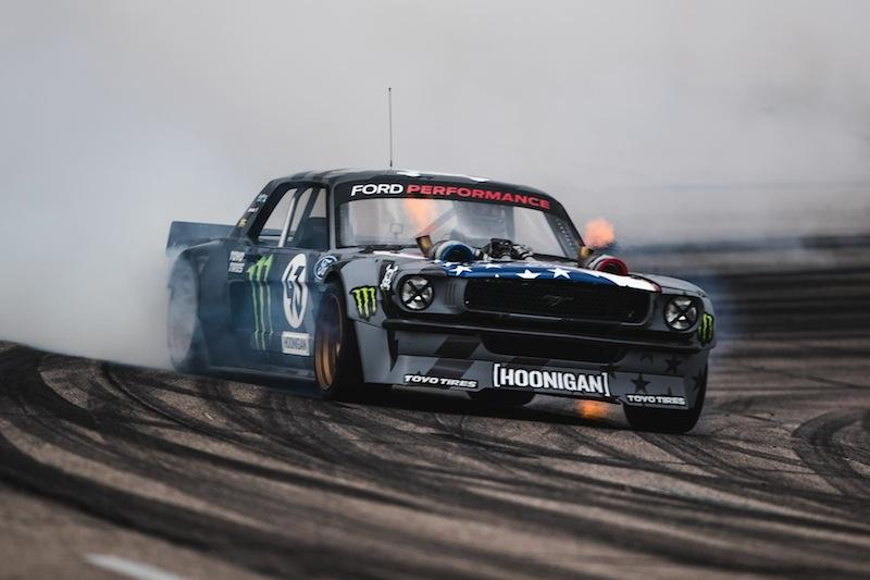 In preparation for the launch of his all-new video project, Climbkhana, on Monday, September 25th, Hoonigan Racing Division's Ken Block has shared never-before-seen footage of him testing his twin turbo'd 1965 Ford Mustang Hoonicorn RTR V2 in Colorado prior to filming at Pikes Peak.