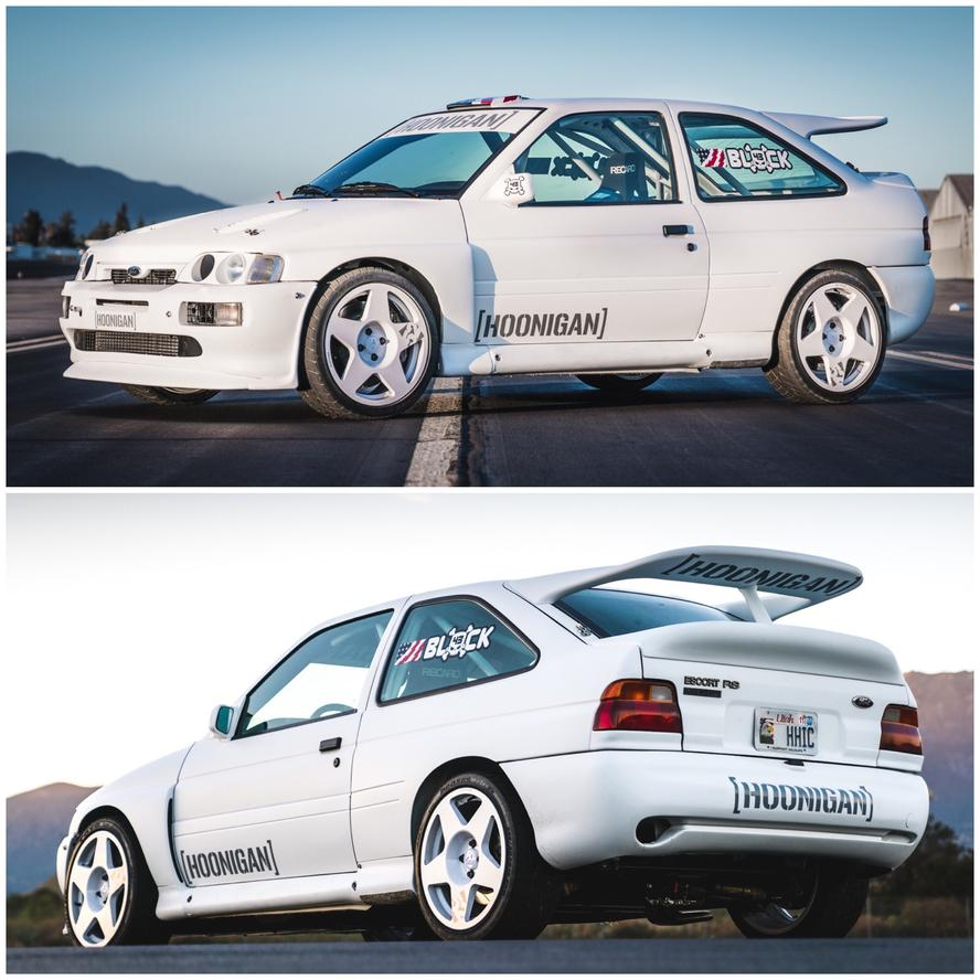 Ken Block is pleased to announce an all-new (to him) racecar to his arsenal of racecars at Hoonigan Racing Division: a 1991 Ford Escort RS Cosworth Group A rally car—complete with an upgraded WRC engine package!