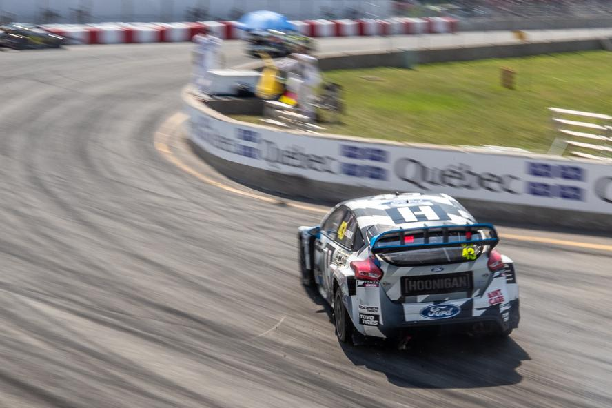 Hoonigan Racing Division's Ken Block took his second rallycross podium (of two RX races so far this season) of the year with a 3rd place overall at the ARX round in Trois-Rivieres, Canada.