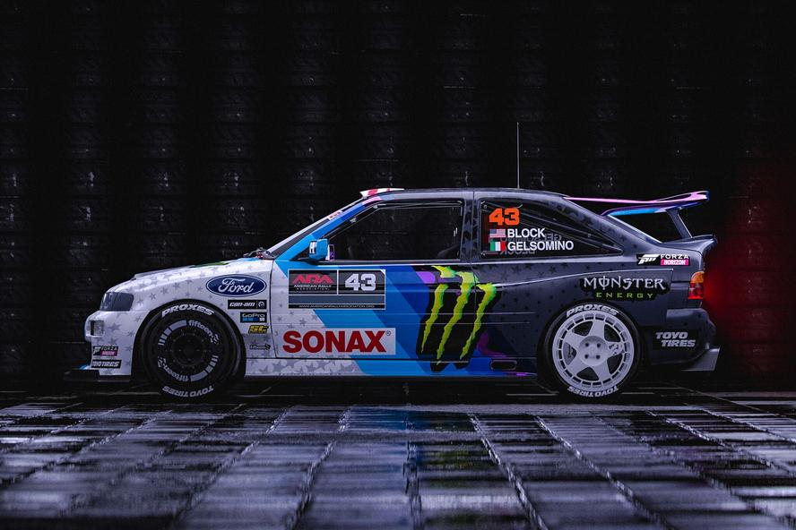 """After losing his previous 1991 Ford Escort Cosworth Group A rallycar to a fire while racing in the summer of 2018, Ken Block knew exactly what he had to do for 2019: build an all-new Cossie! And for his """"Cossie V2,"""" he's taken all of the things both he and the fans loved about the original Ford Escort Cosworth and has enhanced them in a big way."""