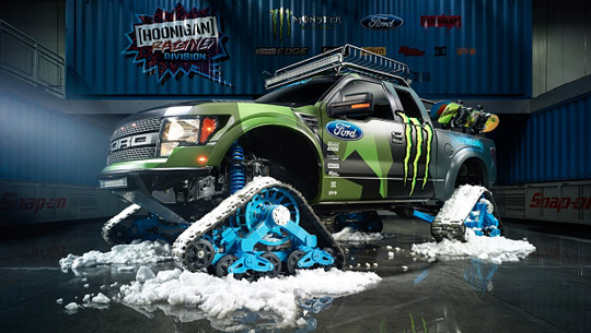 Ken Block introduces his new Ford F-150 RaptorTRAX