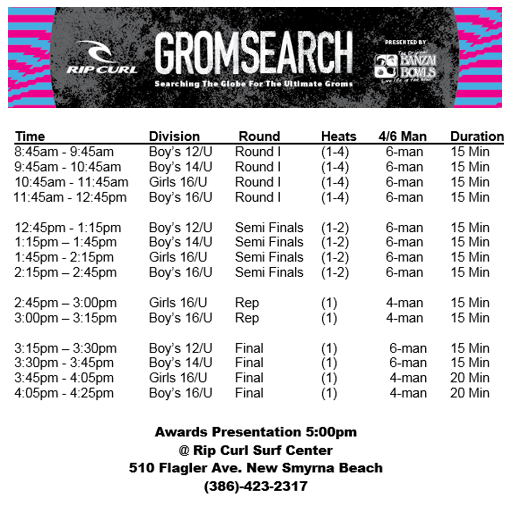 gromsearch surfing contest