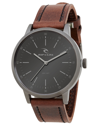 DRAKE WATCH GUNMETAL LEATHER