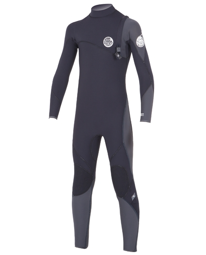 YOUTH FLASH BOMB ZIP FREE 4/3 WETSUIT