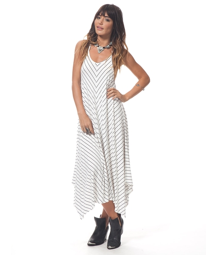 LINE EM UP MAXI DRESS