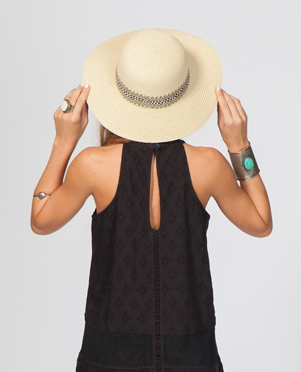TIGRESS SHORT BRIM BOHO HAT