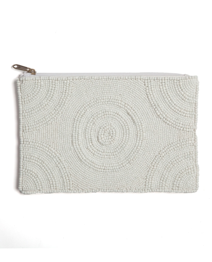SANDY BEACH BEADED CLUTCH