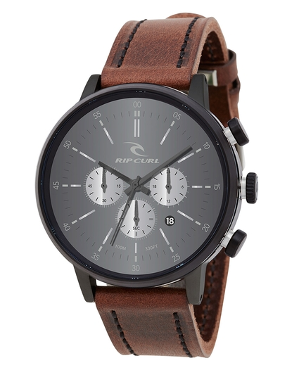 DRAKE CHRONO WATCH LEATHER MIDNIGHT