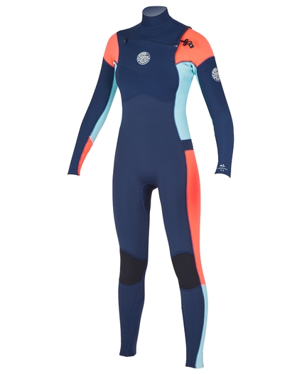 WOMEN'S DAWN PATROL CHEST ZIP 4/3 WETSUIT