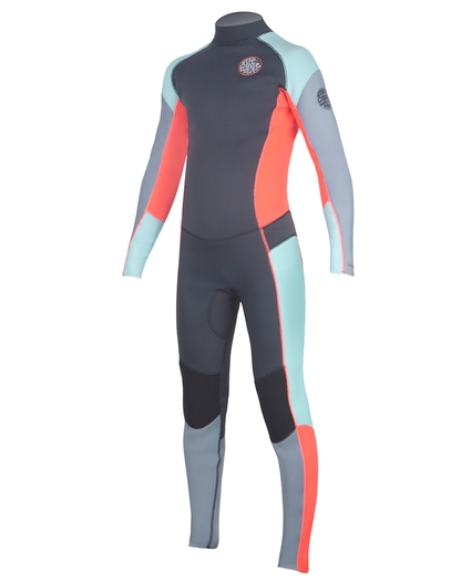 JUNIOR GIRLS DAWN PATROL BACK ZIP 3/2 FL WETSUIT