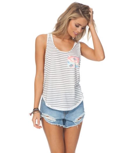 MIA FLORES POCKET TANK TOP