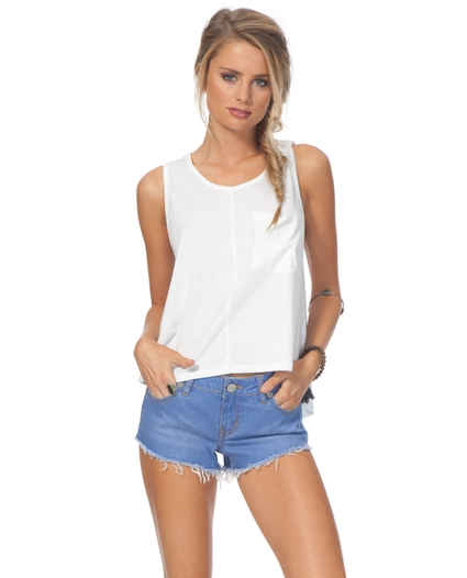 STAY YOUNG DENIM SHORTS