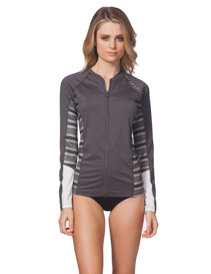 TRESTLES L/S FRONT ZIP RASH GUARD