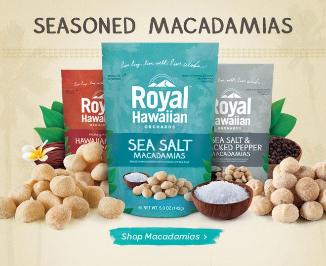 seasoned macadamias