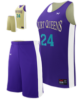 Half Court Reversible Basketball Youth Girl's Set