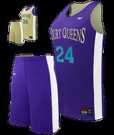 Half Court Reversible Basketball Youth Girl's Set