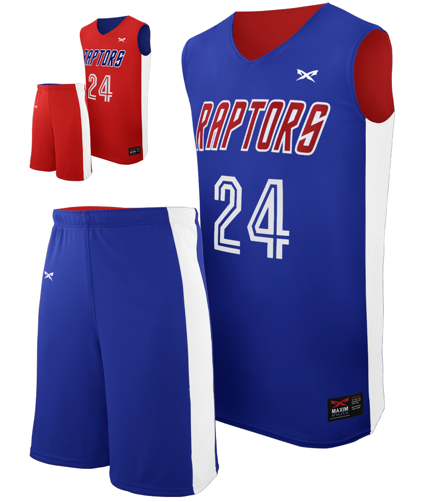 Half Court Youth Reversible Basketball Jersey Maxim Athletic
