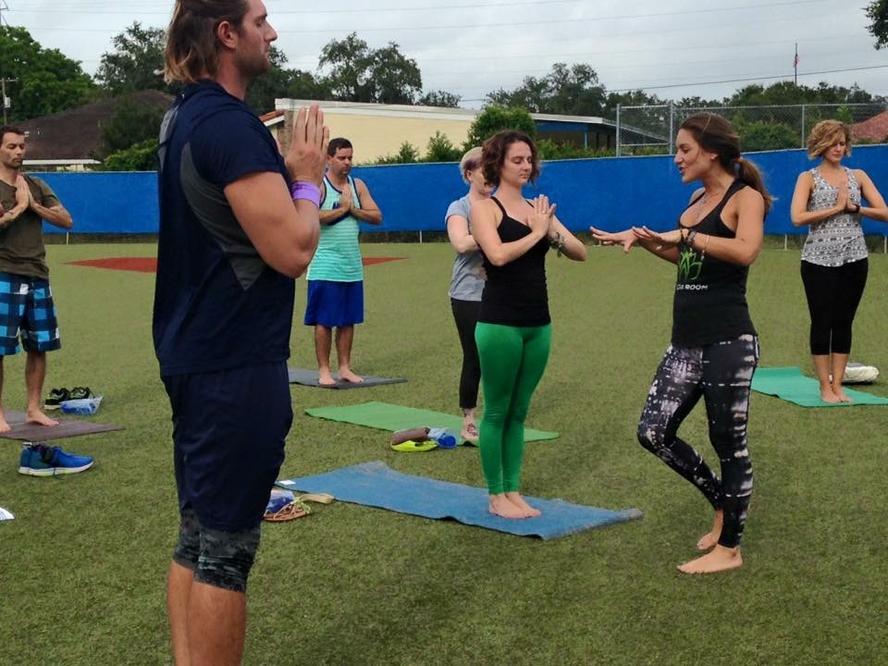 Pro athletes and yoga