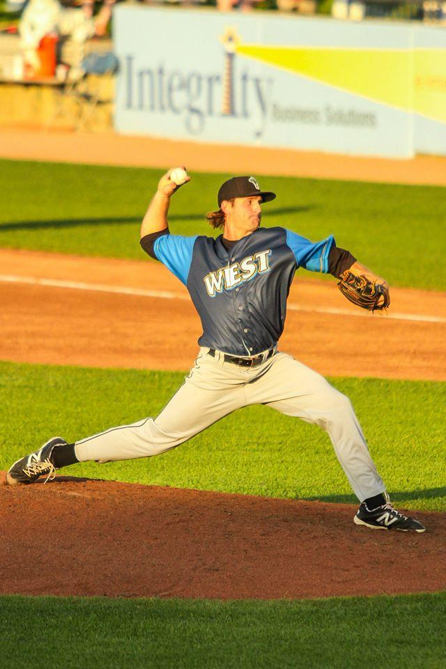 Preston pitching for the Milwaukee Brewers