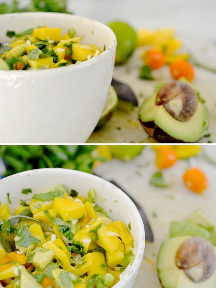 healthy and easy mango salsa