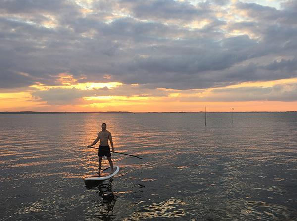 Red Sullivan On Paddleboard