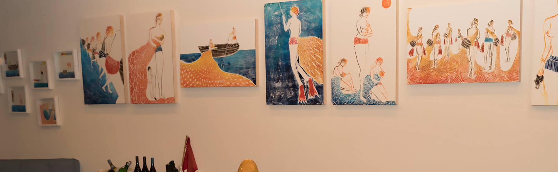 Two mermaids, one workshop, a lot of creativity