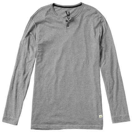 EVER LS HENLEY HEATHER GREY