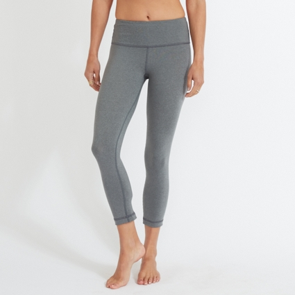 HEATHER GREY LEGGING - CAPRI