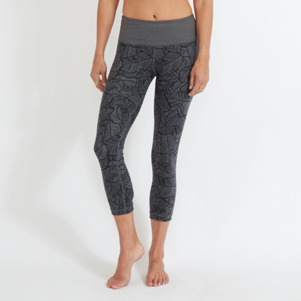GREY PALM LEGGING - CAPRI