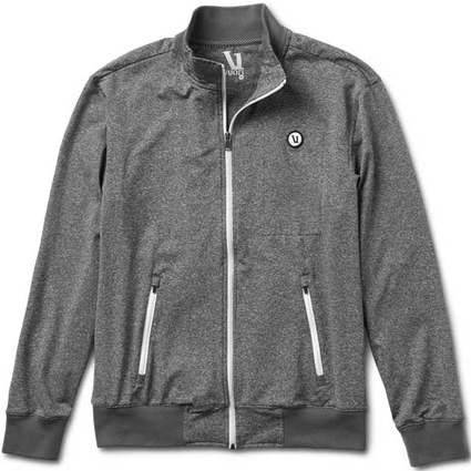 TRACK JACKET HEATHER GREY